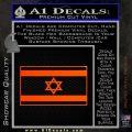 Israel Flag Decal Sticker Orange Emblem 120x120