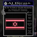 Israel Flag Decal Sticker Pink Emblem 120x120