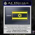 Israel Flag Decal Sticker Yellow Laptop 120x120