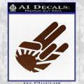 JDM Rising Sun Shocker D1 Decal Sticker BROWN Vinyl 120x120