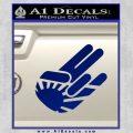 JDM Rising Sun Shocker D1 Decal Sticker Blue Vinyl 120x120