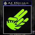 JDM Rising Sun Shocker D1 Decal Sticker Lime Green Vinyl 120x120
