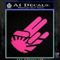 JDM Rising Sun Shocker D1 Decal Sticker Pink Hot Vinyl 120x120