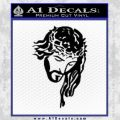 Jesus Face Decal Sticker V5 Black Vinyl 120x120