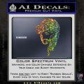 Jesus Face Decal Sticker V5 Glitter Sparkle 120x120