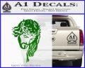 Jesus Face Decal Sticker V5 Green Vinyl Logo 120x97