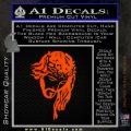 Jesus Face Decal Sticker V5 Orange Emblem 120x120
