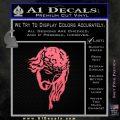 Jesus Face Decal Sticker V5 Pink Emblem 120x120