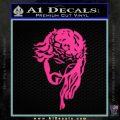 Jesus Face Decal Sticker V5 Pink Hot Vinyl 120x120