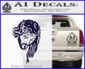 Jesus Face Decal Sticker V5 PurpleEmblem Logo 120x97