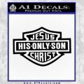 Jesus His Only Son Decal Sticker Black Vinyl 120x120