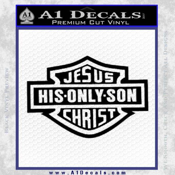 Jesus His Only Son Decal Sticker Black Vinyl