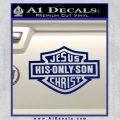 Jesus His Only Son Decal Sticker Blue Vinyl 120x120