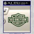 Jesus His Only Son Decal Sticker Dark Green Vinyl 120x120