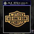 Jesus His Only Son Decal Sticker Gold Vinyl 120x120