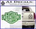 Jesus His Only Son Decal Sticker Green Vinyl Logo 120x97