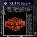 Jesus His Only Son Decal Sticker Orange Emblem 120x120