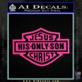 Jesus His Only Son Decal Sticker Pink Hot Vinyl 120x120
