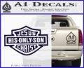 Jesus His Only Son Decal Sticker PurpleEmblem Logo 120x97