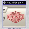 Jesus His Only Son Decal Sticker Red 120x120