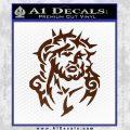 Jesus In Thorns Decal Sticker BROWN Vinyl 120x120