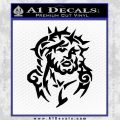 Jesus In Thorns Decal Sticker Black Vinyl 120x120