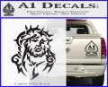 Jesus In Thorns Decal Sticker Carbon FIber Black Vinyl 120x97