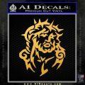 Jesus In Thorns Decal Sticker Gold Vinyl 120x120