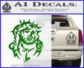 Jesus In Thorns Decal Sticker Green Vinyl Logo 120x97