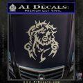 Jesus In Thorns Decal Sticker Metallic Silver Emblem 120x120