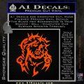 Jesus In Thorns Decal Sticker Orange Emblem 120x120