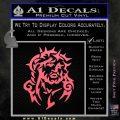 Jesus In Thorns Decal Sticker Pink Emblem 120x120