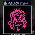 Jesus In Thorns Decal Sticker Pink Hot Vinyl 120x120