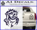 Jesus In Thorns Decal Sticker PurpleEmblem Logo 120x97