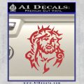 Jesus In Thorns Decal Sticker Red 120x120