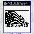 Jesus Saves USA Decal Sticker Black Vinyl 120x120