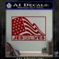 Jesus Saves USA Decal Sticker DRD Vinyl 120x120