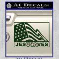 Jesus Saves USA Decal Sticker Dark Green Vinyl 120x120