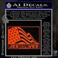 Jesus Saves USA Decal Sticker Orange Emblem 120x120