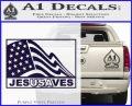 Jesus Saves USA Decal Sticker PurpleEmblem Logo 120x97