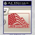 Jesus Saves USA Decal Sticker Red 120x120