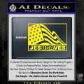 Jesus Saves USA Decal Sticker Yellow Laptop 120x120