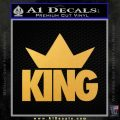 King Crown Clothing D1 Decal Sticker Gold Vinyl 120x120