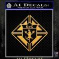 Knights Of Columbus Decal Sticker Gold Vinyl 120x120
