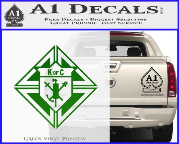 Lplpol Knights of Columbus K of C Vinyl Sticker Car Truck Decal Laptop Emblem 6