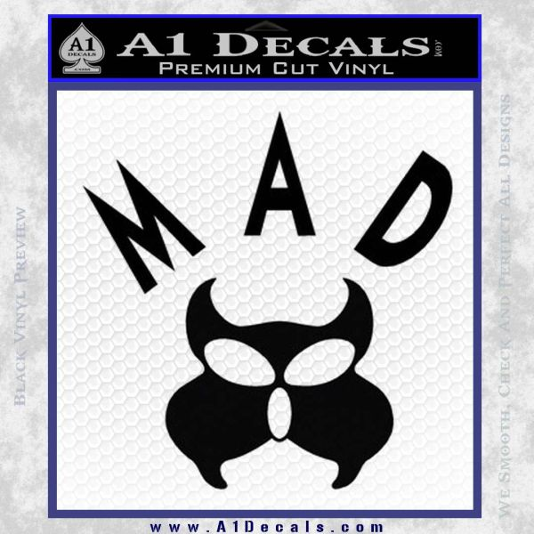 MAD Inspector Gadget Decal Sticker Black Vinyl