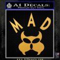MAD Inspector Gadget Decal Sticker Gold Vinyl 120x120