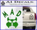 MAD Inspector Gadget Decal Sticker Green Vinyl Logo 120x97
