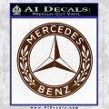 Mercedes Benz C2 Decal Sticker BROWN Vinyl 120x120