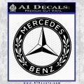 Mercedes Benz C2 Decal Sticker Black Vinyl 120x120